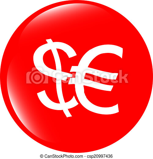 button money sign, icon isolated on white - csp20997436