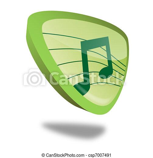 Button Music - csp7007491