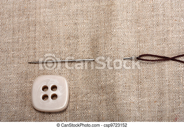 button needle and thread - csp9723152