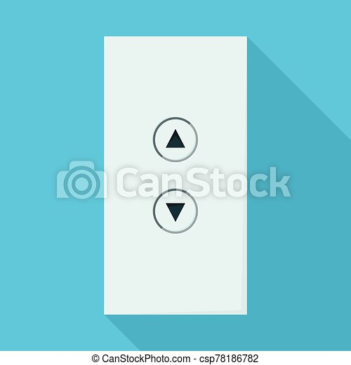 Button of elevator vector icon. Flat vector icon isolated on white background button of elevator . - csp78186782