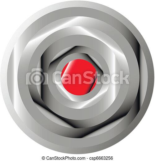 Button on white background. - csp6663256
