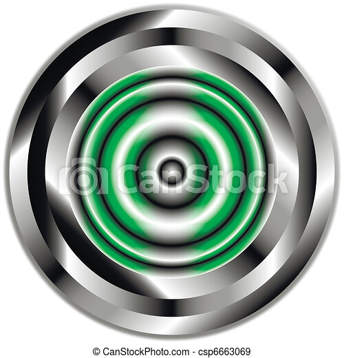 Button on white background. - csp6663069