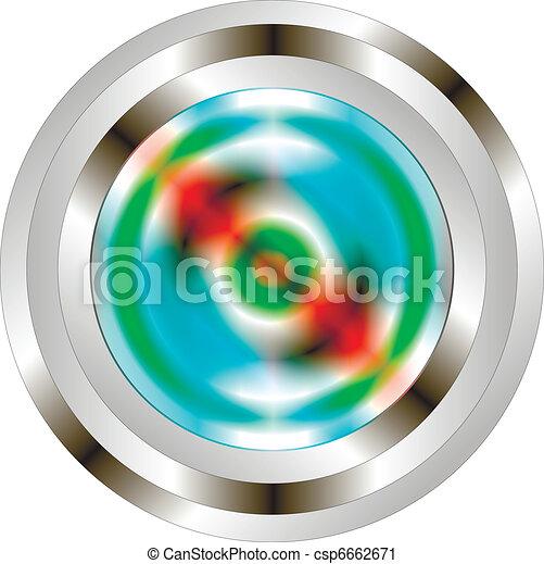 Button on white background. - csp6662671