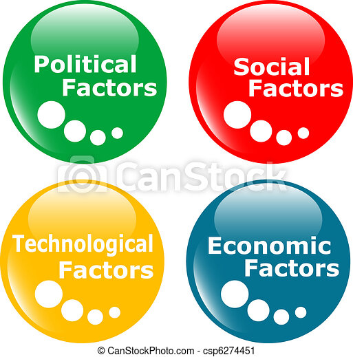 Button Pest Analysis Concept Icon Colored Web Button Pest  Vector