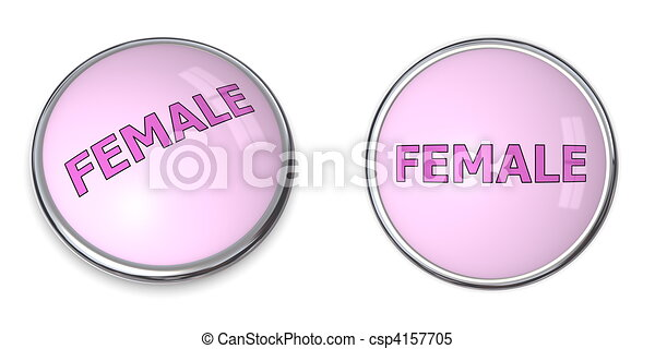 Button Pink Word Female - csp4157705