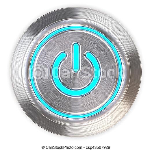 Botón de energía. - csp43507929