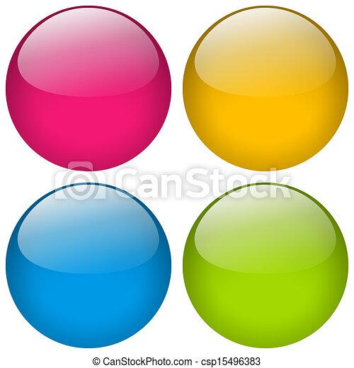 Button Round Set - csp15496383