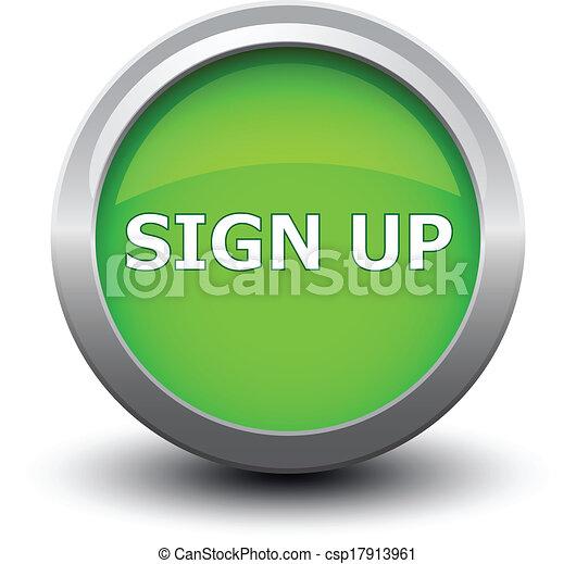 button sign up 2d - csp17913961