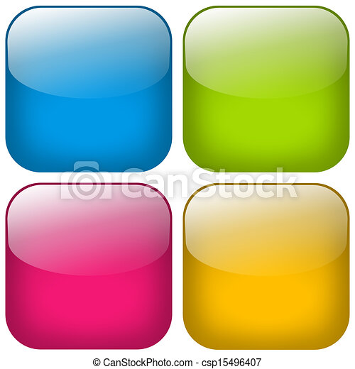 Button Square Set - csp15496407