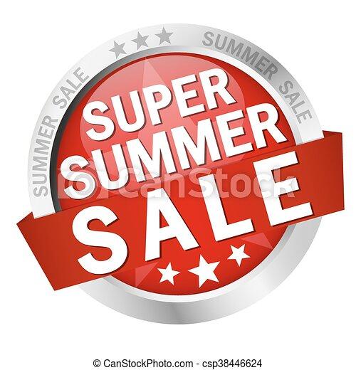 button Super Summer Sale - csp38446624