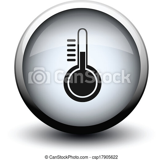 button thermometer 2d - csp17905622