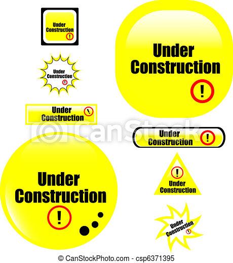 button under construction website - csp6371395