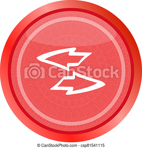 Button web icon with arrow set . Trendy flat style sign isolated on white background - csp81541115