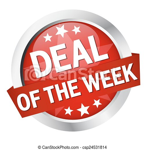 "Button with banner "" DEAL OF THE WEEK "" - csp24531814"
