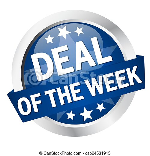 "Button with banner "" DEAL OF THE WEEK "" - csp24531915"