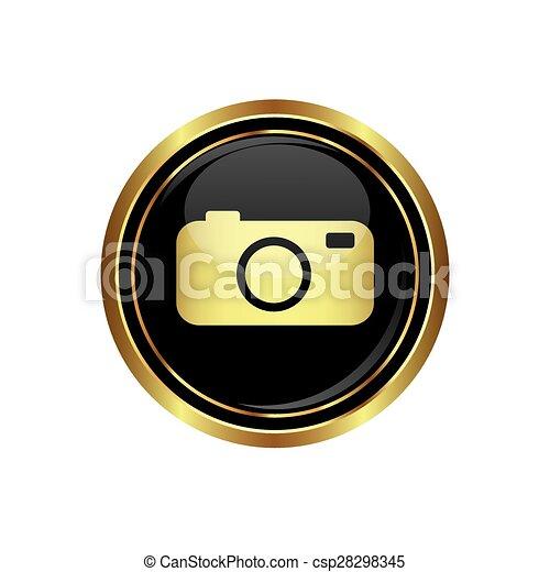 Button with camera Icon - csp28298345