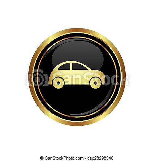 Button with car icon - csp28298346