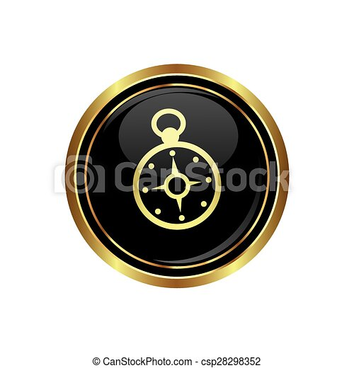 Button with compass icon - csp28298352