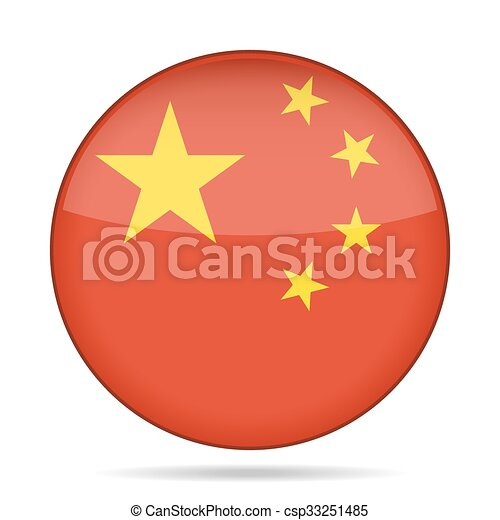 button with flag of China - csp33251485