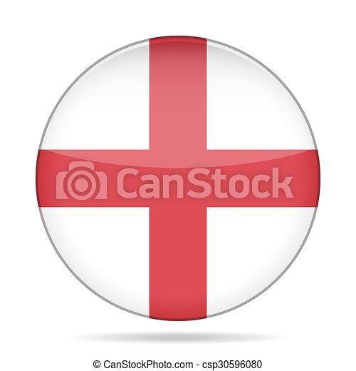 button with flag of England - csp30596080