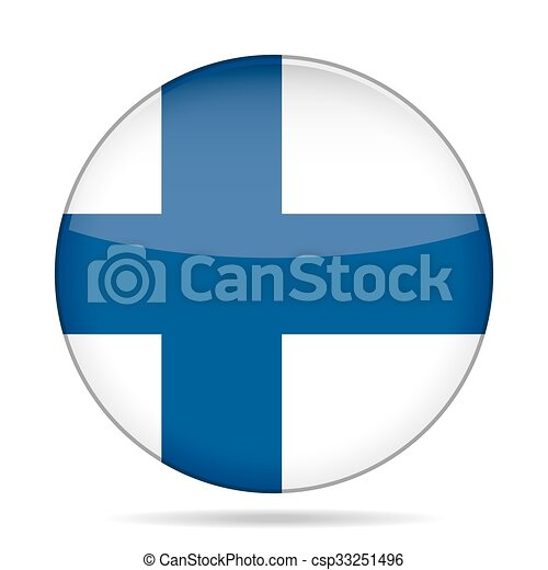 button with flag of Finland - csp33251496