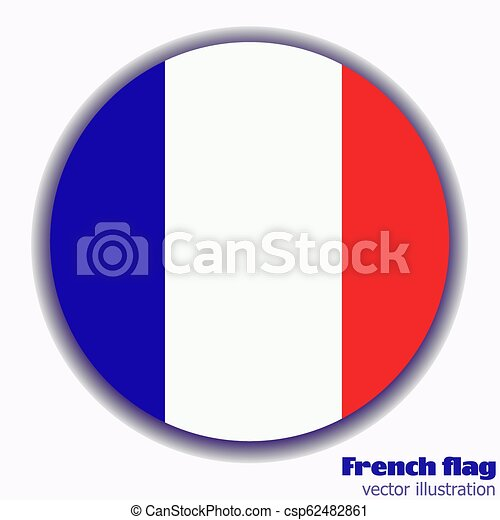 Button with flag of France. - csp62482861