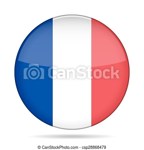 button with flag of France - csp28868479