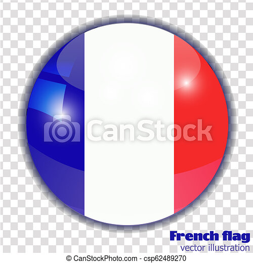Button with flag of France. - csp62489270