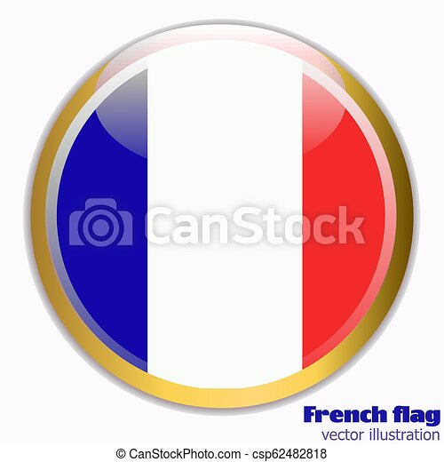Button with flag of France. - csp62482818