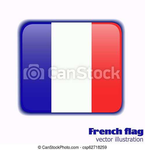 Button with flag of France. Vector. - csp62718259