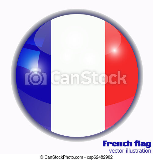 Button with flag of France. - csp62482902