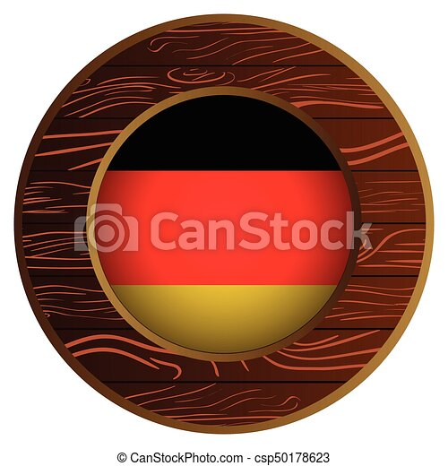 Button with flag of germany - csp50178623