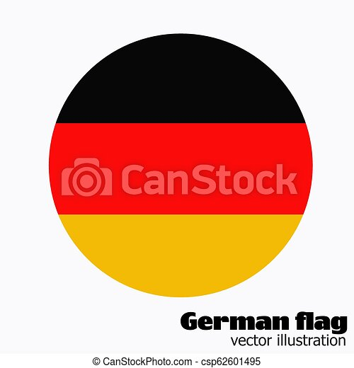 Button with flag of Germany. Vector. - csp62601495