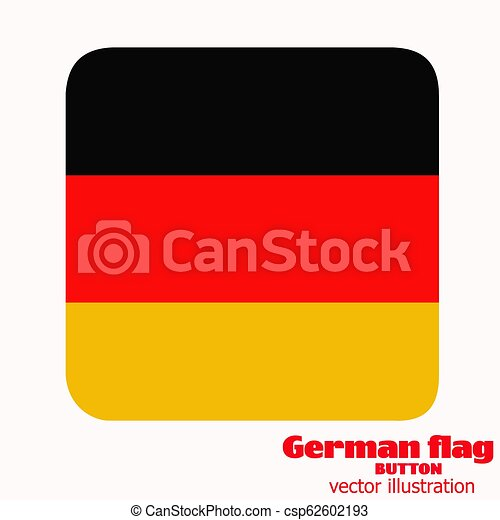 Button with flag of Germany. Vector. - csp62602193