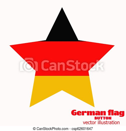 Button with flag of Germany. Vector. - csp62601647