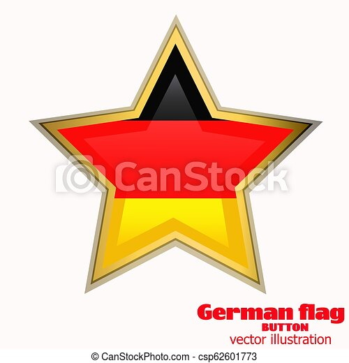 Button with flag of Germany. Vector. - csp62601773