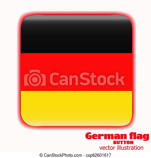 Button with flag of Germany. Vector. - csp62601617