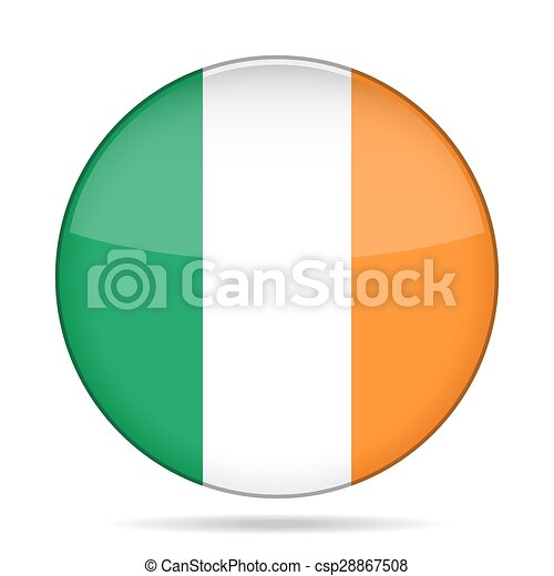 button with flag of Ireland - csp28867508