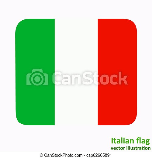 Button with flag of Italia. Vector. - csp62665891