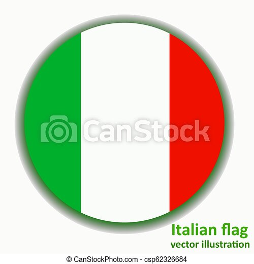 Button with flag of Italia. Vector. - csp62326684