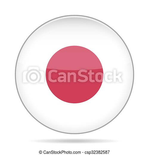 button with flag of Japan - csp32382587