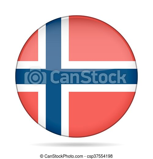 button with flag of Norway - csp37554198