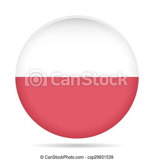 button with flag of Poland - csp29931539