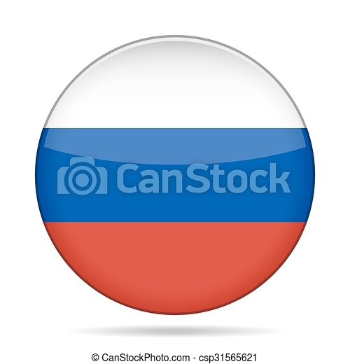 button with flag of Russia - csp31565621