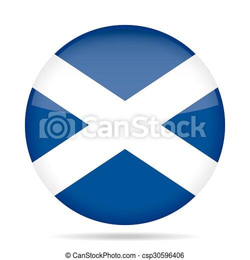 button with flag of Scotland - csp30596406