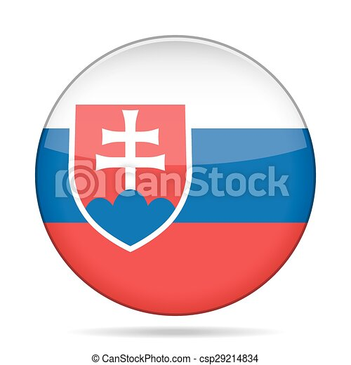 button with flag of Slovakia - csp29214834