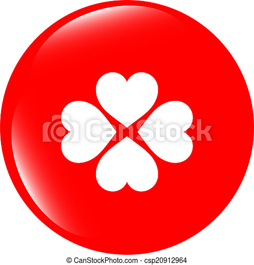 button with heart set sign, icon isolated on white - csp20912964