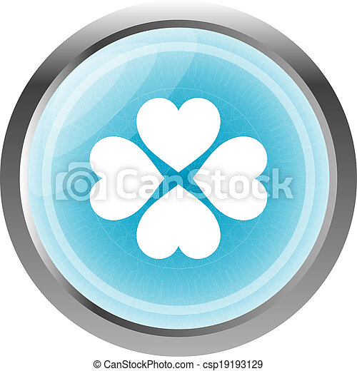 button with heart set sign, icon isolated on white - csp19193129