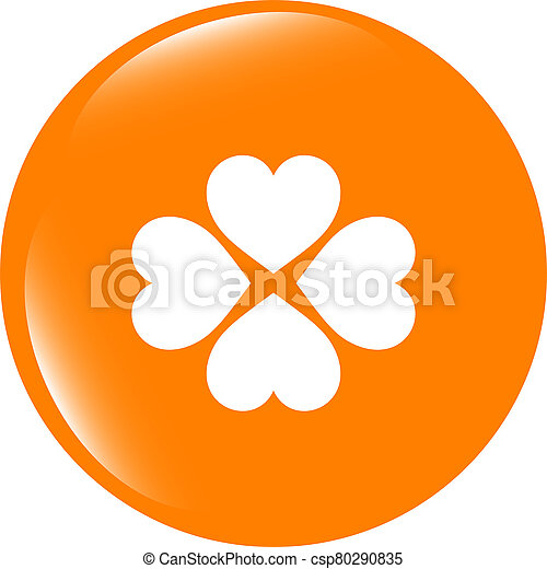 button with heart set sign, icon isolated on white - csp80290835
