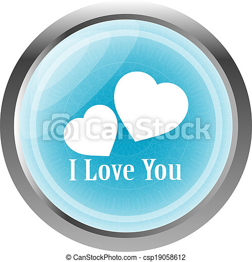 button with heart sign, icon isolated on white - csp19058612